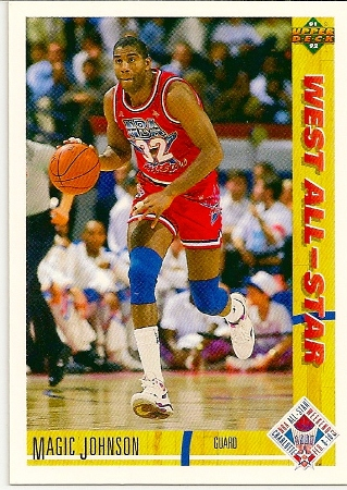 Magic Johnson 1991-92 Upper Deck West All Star Card