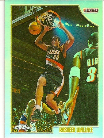 Rasheed Wallace 1998-99 Topps Chrome Refractor Basketball Card SP