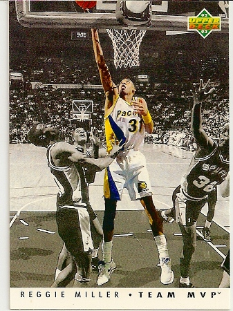 Reggie Miller 1992-93 Upper Deck Team MVP Basketball Card