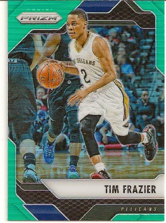 Tim Frazier 2016-17 Panini Prizm Green Refractor Basketball Card