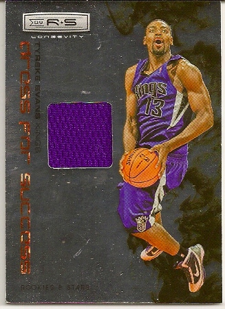 Tyreke Evans 2009-10 Rookies   Stars Longevity Dress For Success Jersey Card 2bc33de0c
