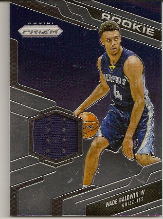 Wade Baldwin 2016-17 Prizm Rookie Jersey Patch Card