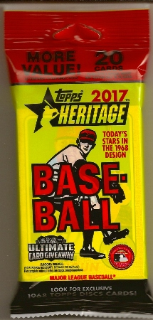 2017 Topps Heritage Baseball Rack Pack