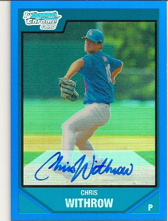 chris-withrow-2007-bowman-chrome-draft-blue-refractor-AUTO-rookie-card