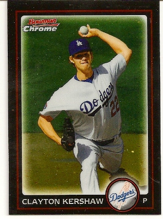 Clayton Kershaw 2010 Bowman Chrome Baseball Card