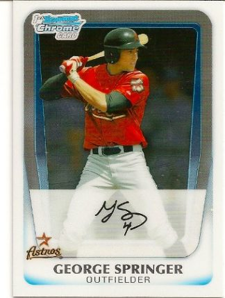 george-springer-2011-bowman-chrome-rookie-card