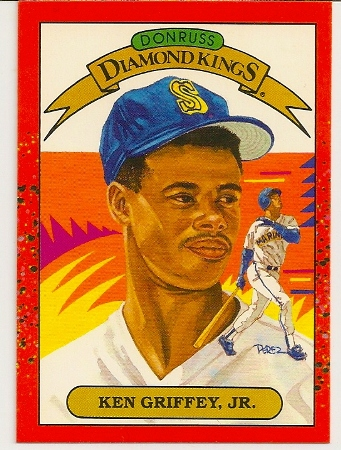 Ken Griffey Jr 1990 Donruss Diamond Kings Baseball Card 4