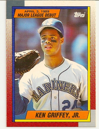 74a4a9db5e Ken Griffey, Jr 1990 Topps Debut Rookie Card #46 - Basketball ...
