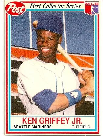 Ken Griffey Jr 1990 Post Cereal Baseball Card