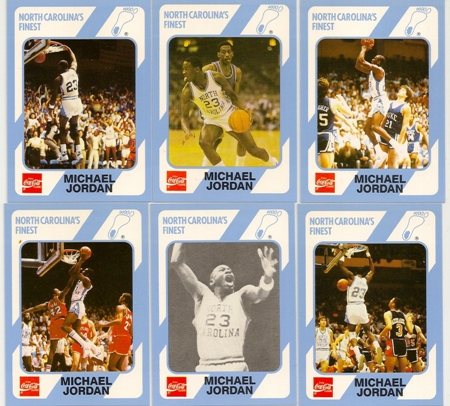 Michael Jordan 1989 Coca Cola North Carolinas Finest 6 Card Lot