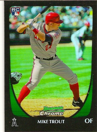 Mike Trout 2011 Bowman Chrome Draft Refractor Rookie Card 101