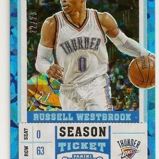 Russell Westbrook 2017-18 Panini Contenders Draft Cracked Ice