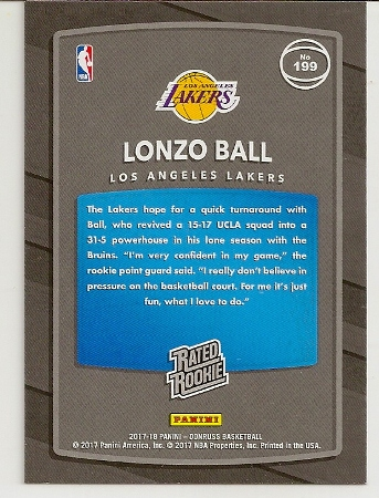 2017-18-panini-donruss-lonzo-ball-rookie-card