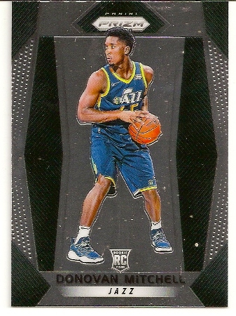 337100cd08624 Donovan Mitchell 2017-18 Prizm Base Rookie Card #117