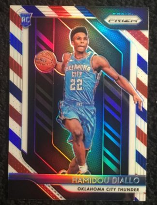 hamidou diallo-2018-19-panini-prizm-red-white-blue-rookie-card