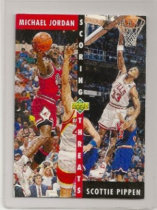 1992-93 Upper Deck Scoring Threats Michael Jordan/ Scottie Pippen Card
