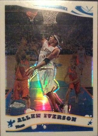 Allen Iverson 2005-06 Topps Chrome Refractor Basketball Card