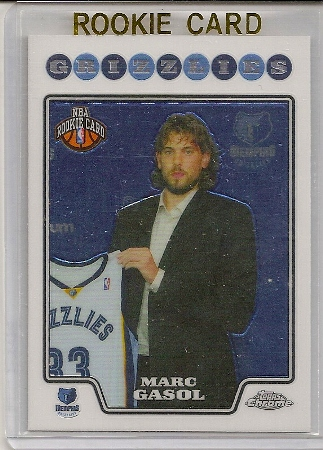 Marc Gasol 2008-09 Topps Chrome Rookie Card