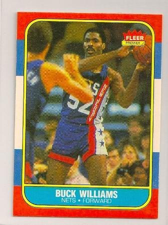 Buck Williams 1986-87 Fleer Basketball Trading Card #123