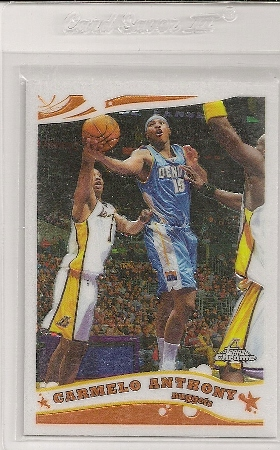 Carmelo Anthony 2005-06 Topps Chrome Basketball Card