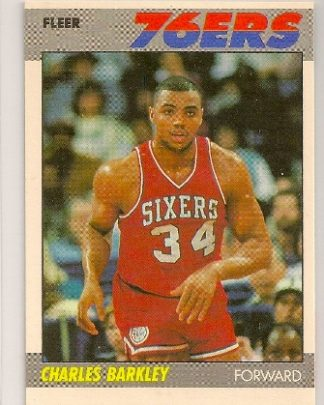 charles barkley 1987-88 fleer basketball trading card