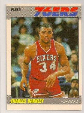 charles barkley 1987-88 fleer basketball trading card