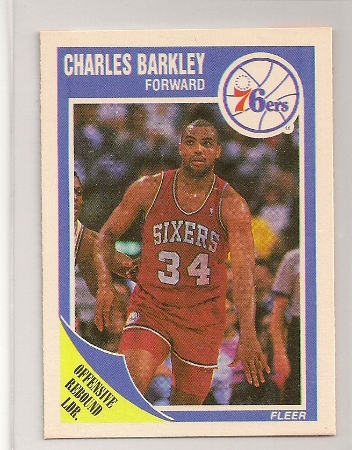 Charles Barkley 1989-90 Fleer Basketball Trading Card