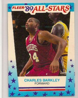 Charles Barkley 1989-90 Fleer Sticker Card #4