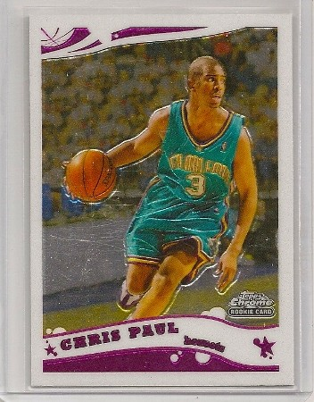 Chris Paul 2005-06 Topps Chrome Rookie Card