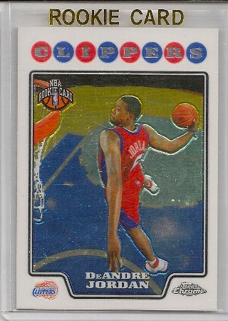 DeAndre Jordan 2008-09 Topps Chrome Rookie Card #209