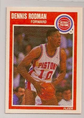 Dennis Rodman 1989-90 Fleer Basketball Trading Card #49