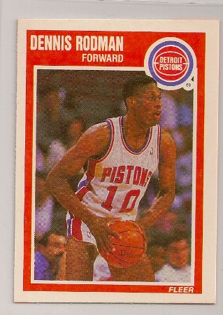 Dennis Rodman 1989-90 Fleer Basketball Trading Card #49