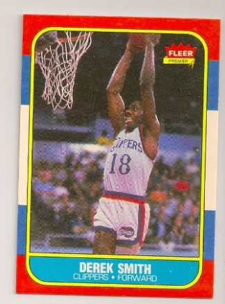 derek smith 1986-87 fleer basketball trading card