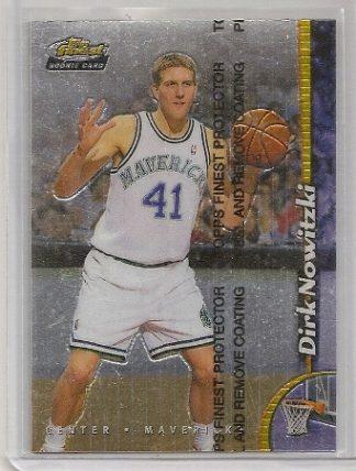Dirk Nowitzki 1998-99 Topps Finest Rookie Card