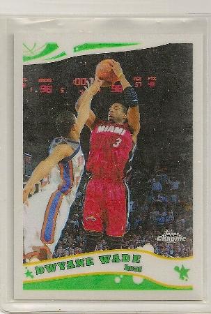 Dwyane Wade 2005-06 Topps Chrome Refractor Card