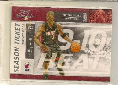 Dwyane Wade 2009-10 Playoff Contenders Season Ticket Card