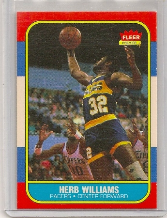 herb williams 1986-87 fleer basketball trading card