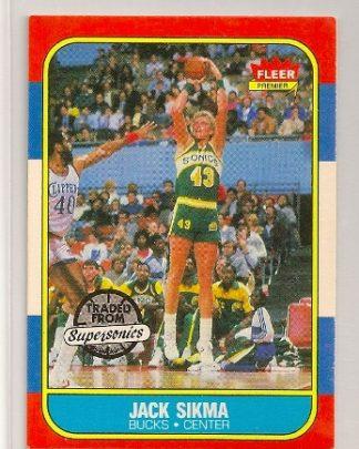 Jack Sikma 1986-87 Fleer Basketball Trading Card