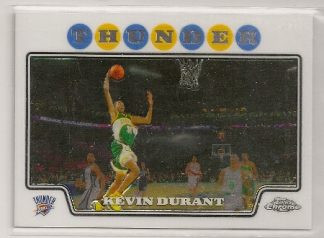Kevin Durant 2008-09 Topps Chrome Basketball Trading Card #156