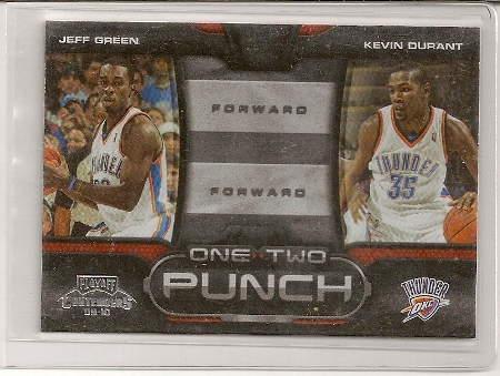 Kevin Durant 2009-10 Playoff Contenders One Two Punch Card