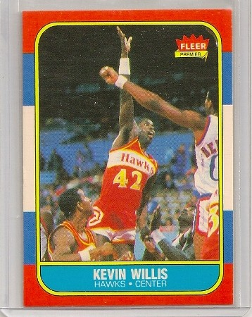 kevin willis 1986-87 fleer basketball trading card