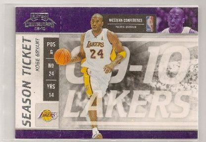 Kobe Bryant 2009-10 Playoff Contenders Season Ticket Card