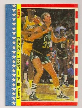 Larry Bird 1987-88 Fleer Sticker #4