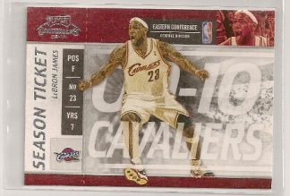 Lebron James 2009-10 Playoff Contenders Season Ticket Card