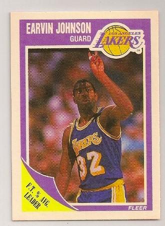 Earvin Johnson 1989-90 Fleer Basketball Trading Card #77