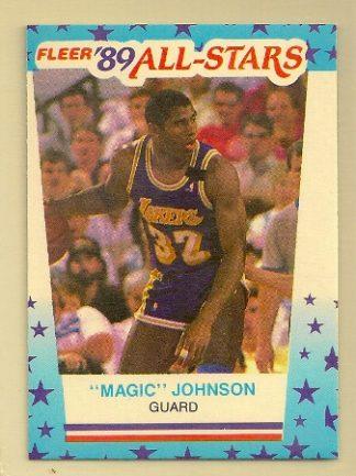 Magic Johnson 1989-90 Fleer Sticker #5