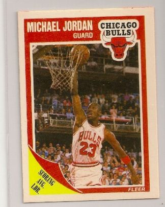 michael jordan 1989-90 fleer basketball trading card