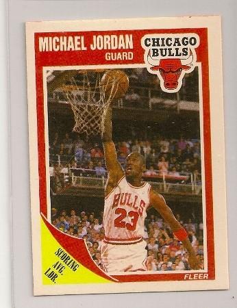 michael jordan 1989-90 fleer basketball trading card