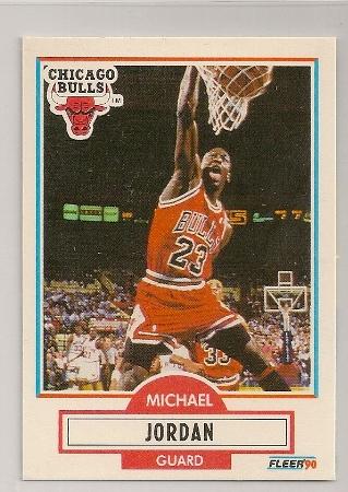 Michael Jordan 1990-91 Fleer Basketball Trading Card