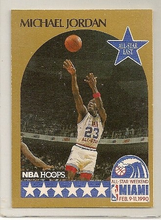 Michael Jordan 1990-91 Hoops All Star Basketball Card